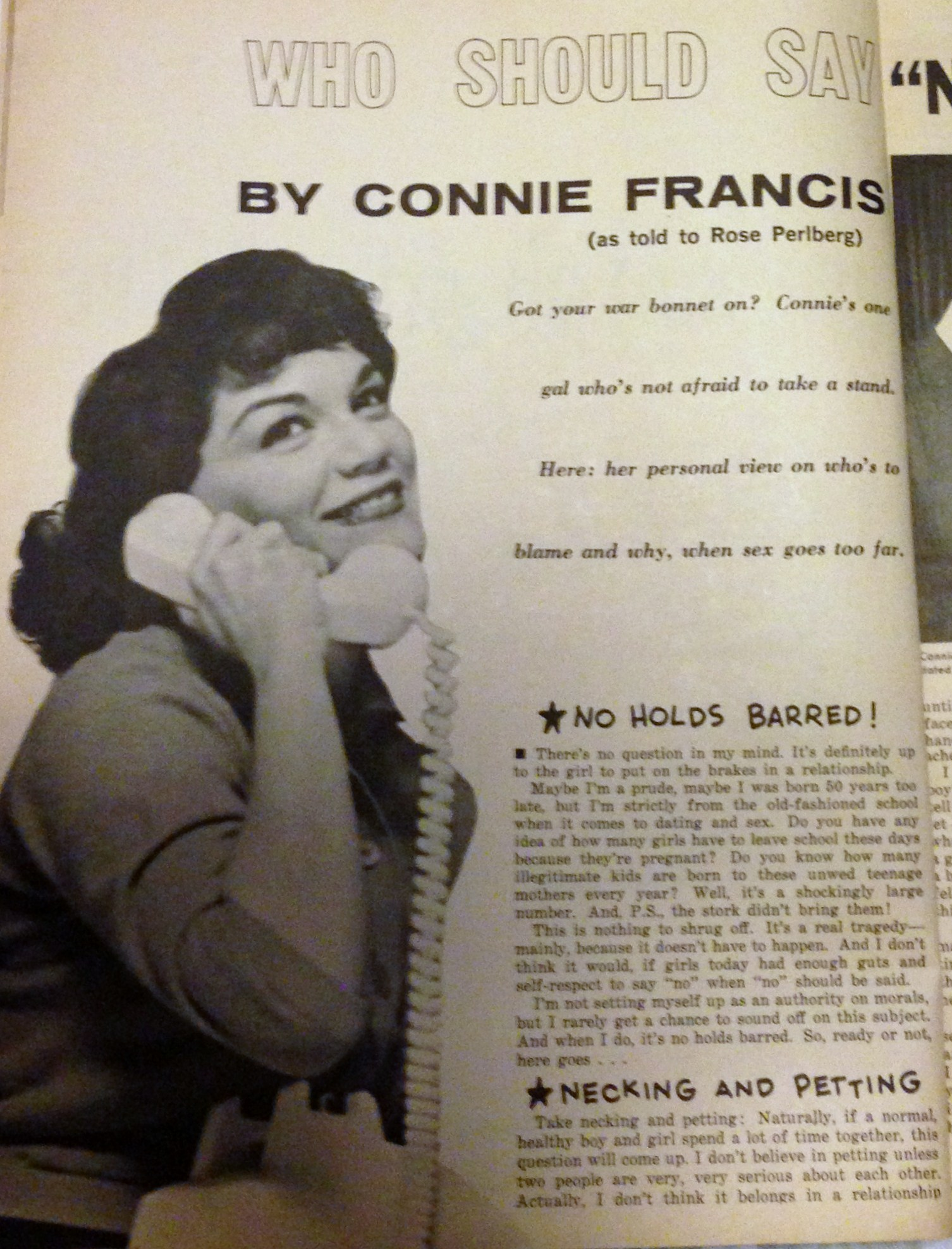 Connie Francis Virginity - Porno Photo-9432