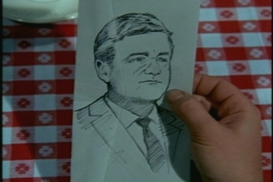 Cissy is so moved that she dashes off this sketch of Uncle Bill in about two minutes.