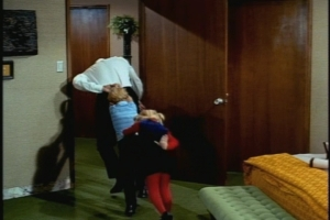 One episode highlight--the cute exit Uncle Bill, Jody and Buffy make from Uncle Bill's room. I wonder whose idea it was. Director William D. Russell was not usually given to whimsy.
