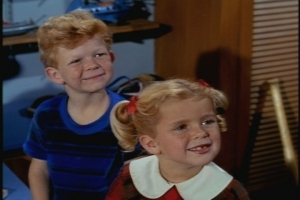 Oh, yeah, here they are. Let me just take a moment to praise Johnny Whitaker--he has such a sweet and guileless quality, especially in these early episodes.