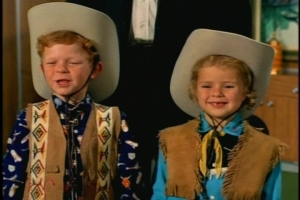 The kids return from their latest trip to the rodeo in adorable costumes.