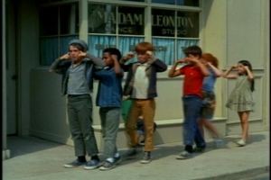 That's when we learn that Buffy's dancing school is located on the set of a 1930s Dead End Kids movie.