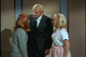 First, though, he has a successful meeting with the hospital administrator and tells a jubilant Cissy that she can be a volunteer. (Continuity alert: Cissy's friend Sharon is also a candy-striper.)