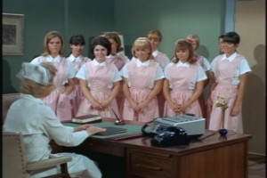 When Cissy reports for duty, the nurse in charge stresses one rule--don't give patients food or drink without permission from a doctor or nurse. Do you hear that, Cissy?!