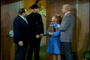 As a worried Bill prepares to track her down, a police officer escorts her into the apartment.