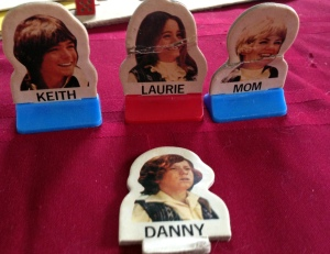 They made these from the photo on the box, so Danny has that same dazed look on his face.