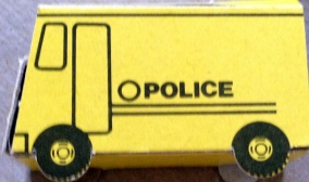 A yellow police car doesn't seem too authoritative.