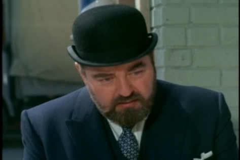 More acting props: Sebastian Cabot reactions to the kids are perfect here--tender, but maintaining French's normal restraint.