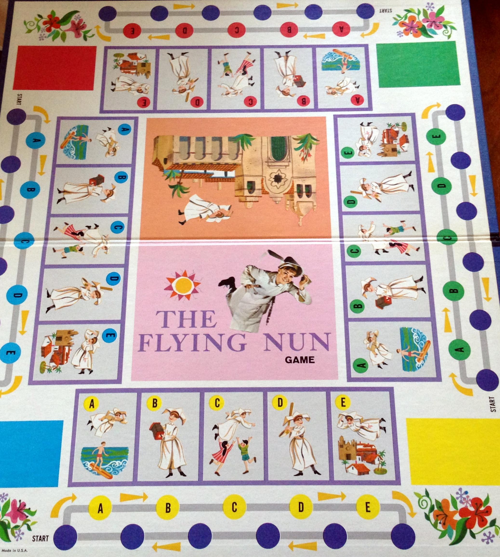 Life Game Board Spaces flying nun board