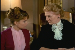 "Kathryn Givney, who plays the murderer's mother in this episode, was Mrs. Allenby in the memorable first-season Family Affair episode ""The Thursday Man."""