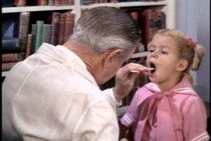 I hope Dr. Felsom doesn't treat many asthma patients because those books look pretty musty.