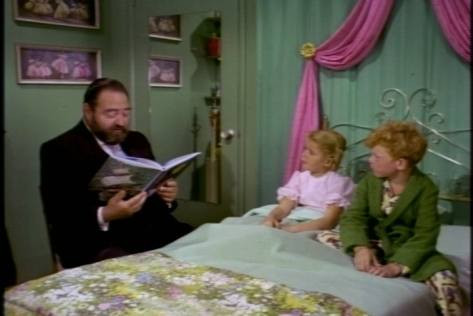 That night, the kids rush French through his bedtime story. It's almost as if they're eager for everyone to go to sleep!