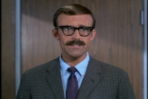 With these glasses and this mustache, he doesn't look much like his most famous character, Nels Oleson from Little House on the Prairie.