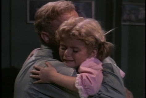 The episode ends with Bill embracing Buffy, who obviously knew the truth all along.