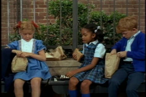 The next day at school, the twins join Albertine at lunch time.