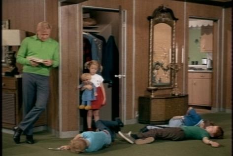 Soon, everyone except the schoolmarm is dead.