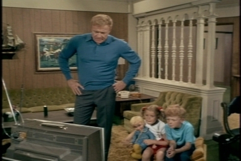 Bill tries to get them to play a game instead of watching TV.
