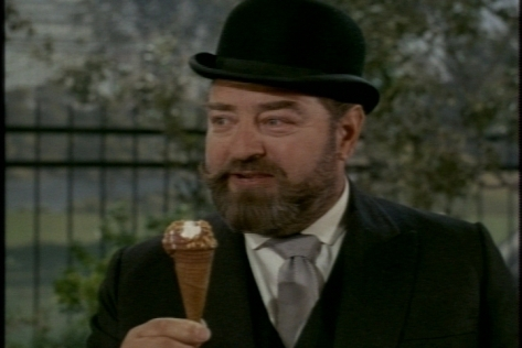 It's doesn't help that he's stuck holding Jody's ice cream cone.
