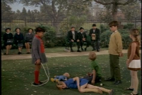 Just then, Buffy falls down, and French has to rush to her rescue.