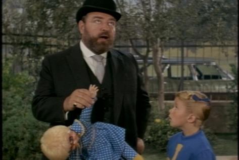 Unfortunately, he's left holding Mrs. Beasley.