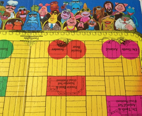 This close-up shows ending spots for several characters and sets.