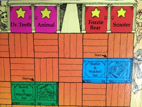 muppet show 1977 board closeup