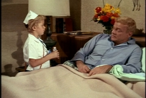 """Meanwhile, Buffy wakes Bill every 15 minutes to give him his """"pills""""--actually candy."""