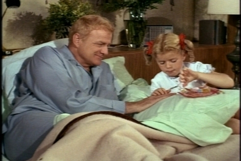 Meanwhile, Buffy gives Bill a manicure, which involves stabbing him in the knuckles with her scissors.