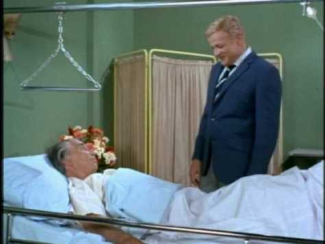 Soon Bill gets word that McAlister is back in New York, so he rushes to the hospital to visit him.