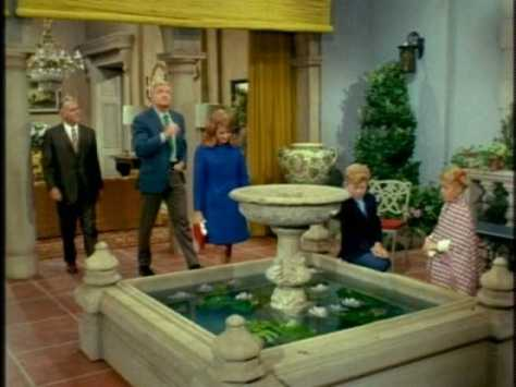When they see the fountain, they regret not bringing their fish to live in it.