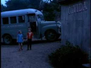Having no idea where they are, the twins get off the bus and look for help.