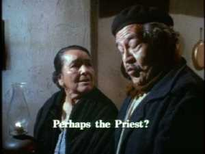Maria thinks they can trust the priest, but Carlos won't trust anyone.