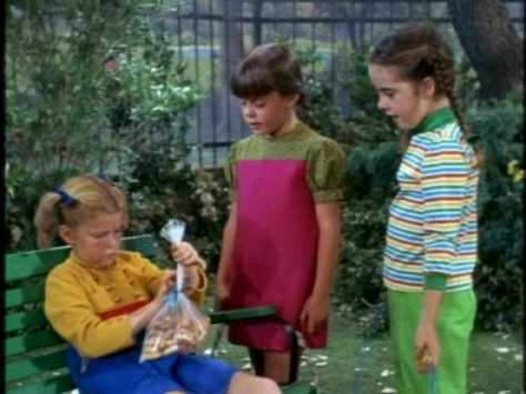 Meanwhile, Buffy's in the park with treats she's prepared as a birthday present for Peter.